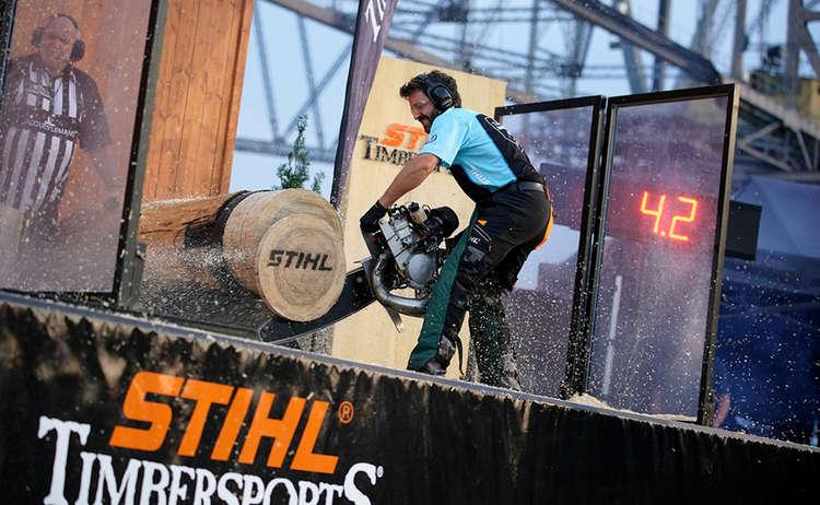 Hot Saw Piding Stihl Timbersports