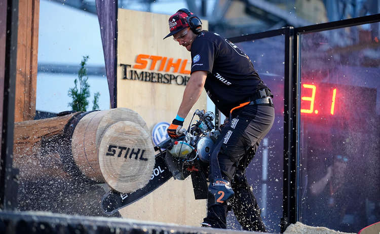 Timbersports Hot Saw