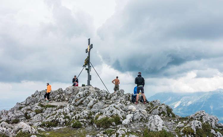 Pidinger Kettersteig Gipfel Hochstaufen