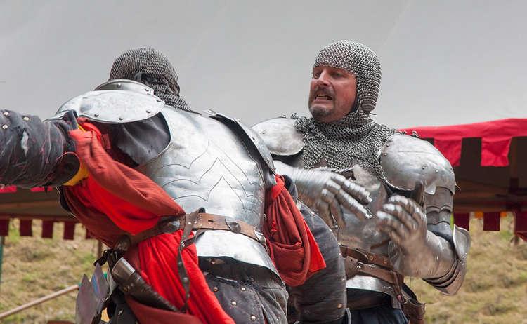 Ritter kämpfen Mann gegen Mann
