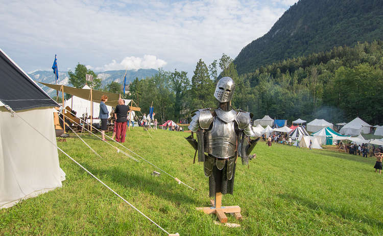 Auf dem Pidinger Mittelaltermarkt