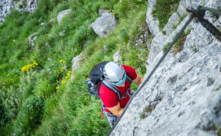 Der Pidinger Klettersteig auf den Hochstaufen